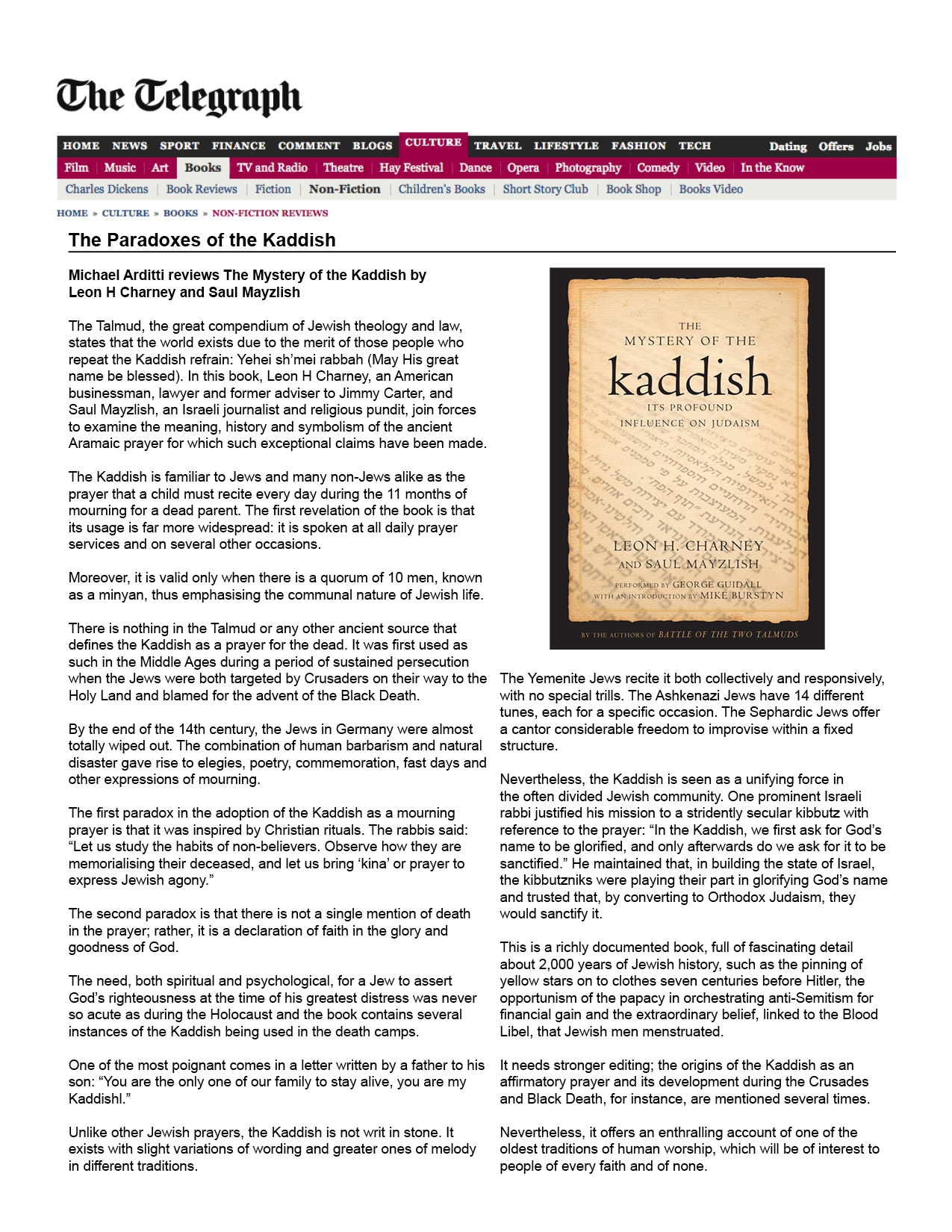 sunday telegraph reserve reviews