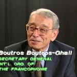 Boutros Boutros-Ghali and Dina Porat